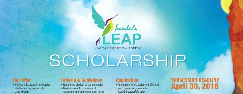 Sandals LEAP Scholarship banner