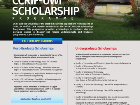 CCRIF SPC-UWI Undergraduate Scholarship