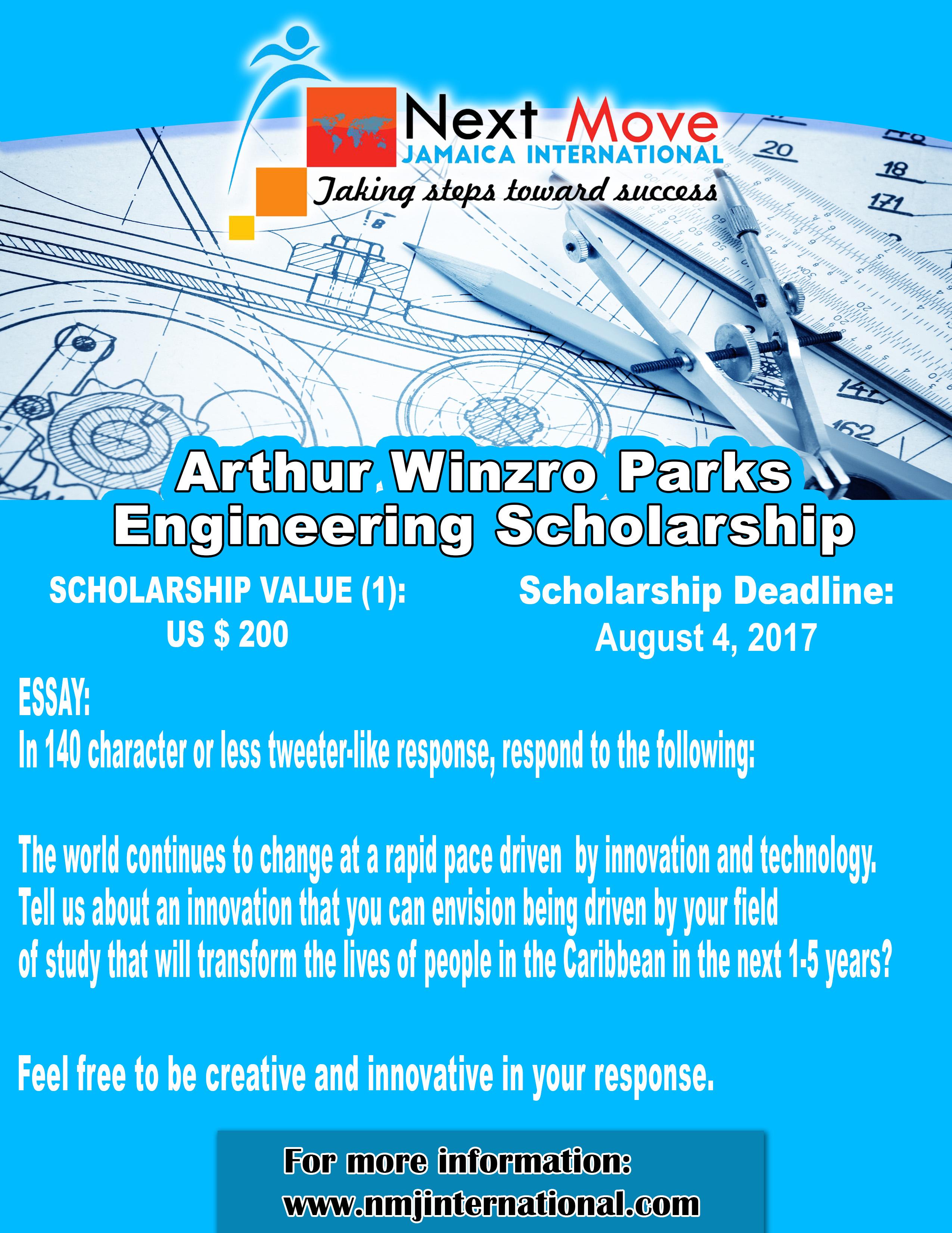 Arthur Winzro Parks Engineering Scholarship