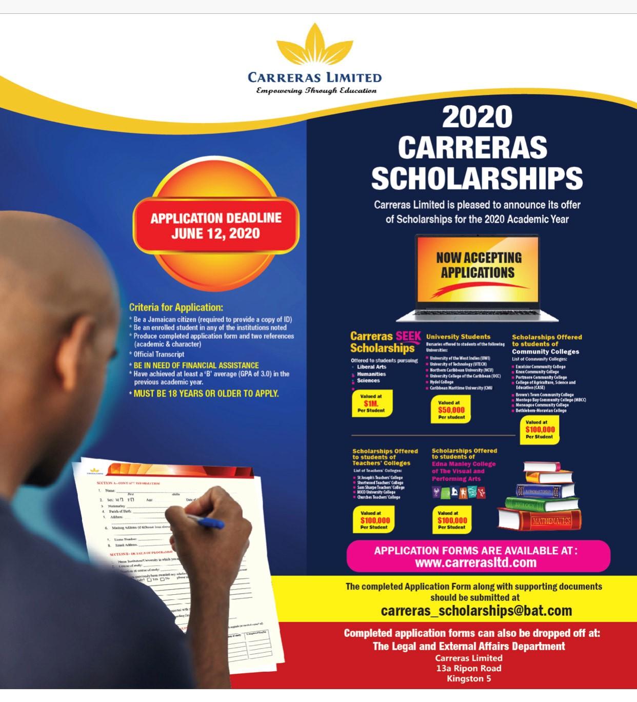 2020 Carreras Scholarships