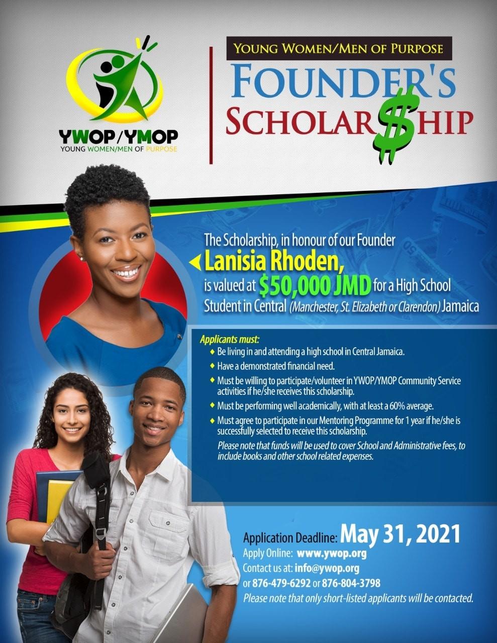 YWOP YMOP Founders Scholarship