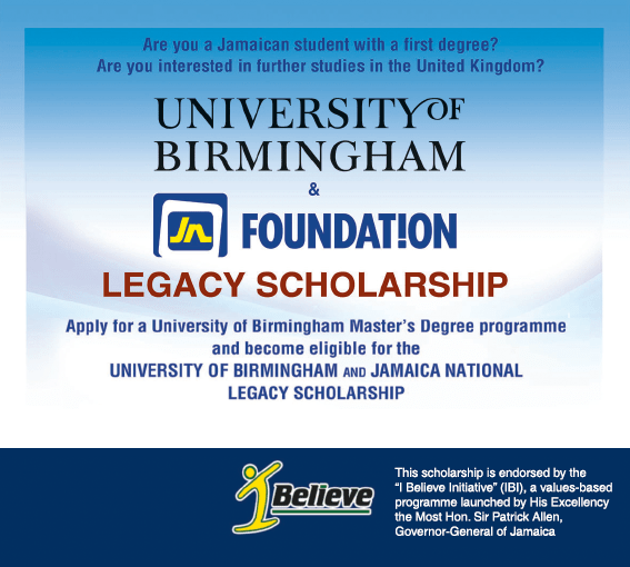Legacy Scholarship, JN Foundation, University of Birmingham