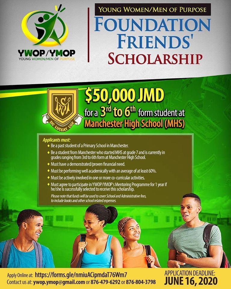 Young Women Young Men of Purpose Foundation Scholarship, YWOP/YMOP