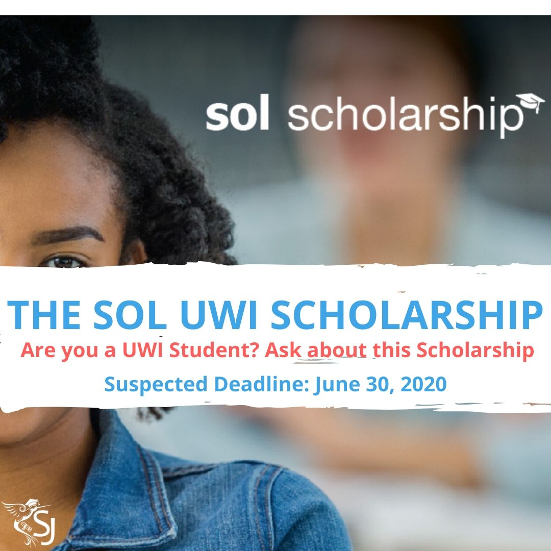 Apply for the 2020/2021 UWI SOL Scholarship undergraduate and graduate programme for students enrolled at the Cave Hill, Mona, St Augustine and Open Campuses. Deadline is June 30th.
