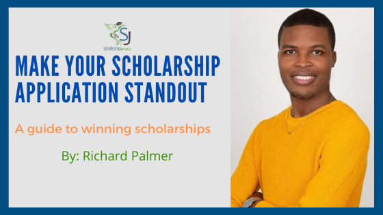 Richard Palmer: Strategies on how to make your scholarship application stand out from a multi-million dollar scholarship winner, Prime Minister Youth Awardee.