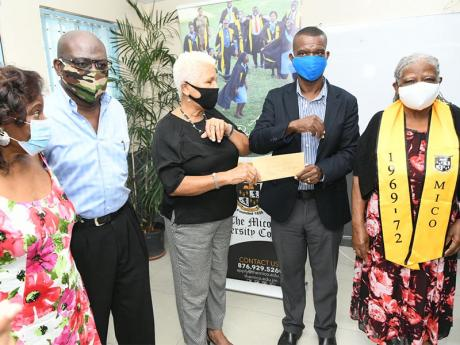 Mico Old Students Association donated J$1.5M to the Mico University College COVID-19 Relief Fund to assist students impacted by the pandemic.