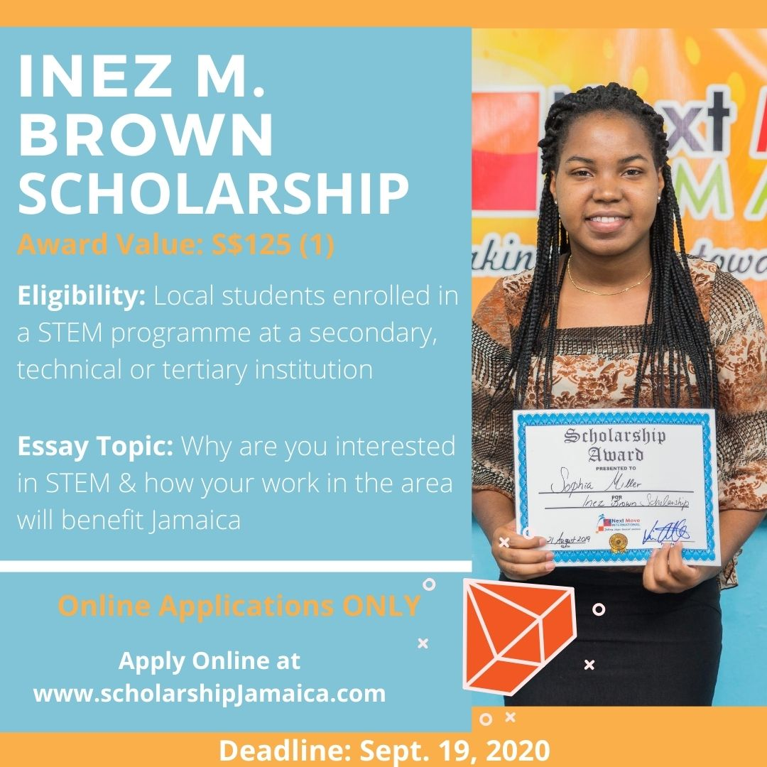 Apply for the 2020 Inez M. Brown Scholarships for female students enrolled in high school or community college studying in STEM related careers.