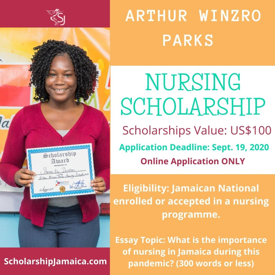 Apply for the 2020 Arthur Winslow Parks Nursing Scholarships. The awards are available to all local students enrolled in a nursing programme.