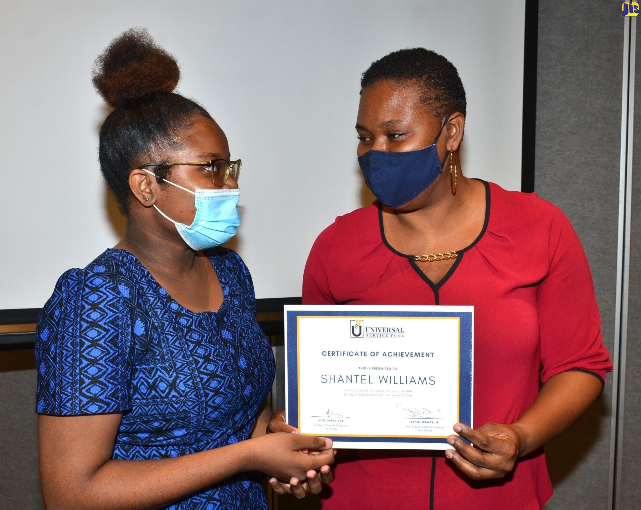 Shantel Williams, an aspiring ICT teacher, is the first recipient of the USF inaugural Programme of Advancement Through Health and Education (PATH) Tertiary ICT Scholarship.
