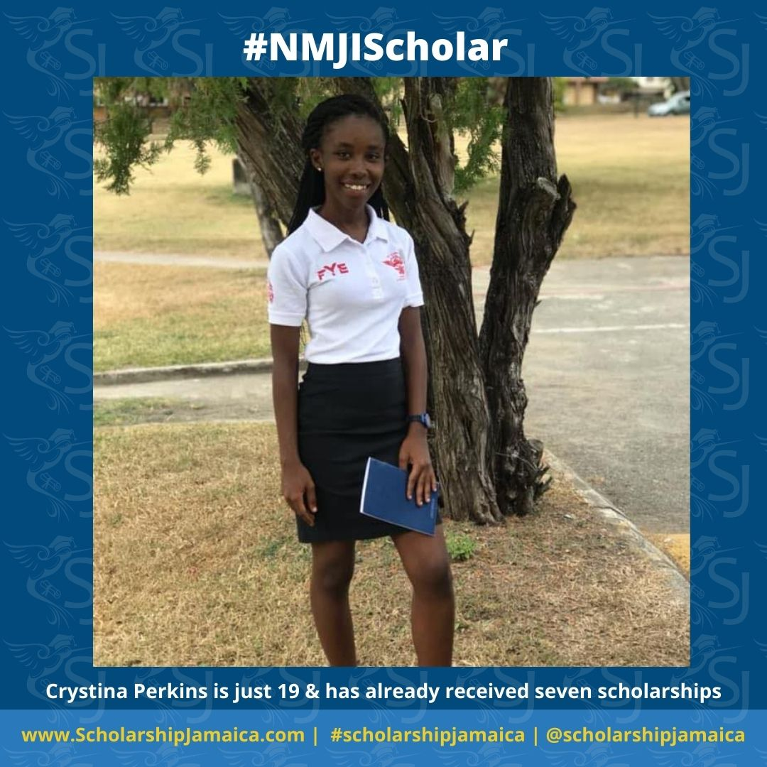 Most students who are lucky or good enough to receive scholarships tend to go through school on one endowment. Nineteen-year-old Crystina Perkins is an exception.
