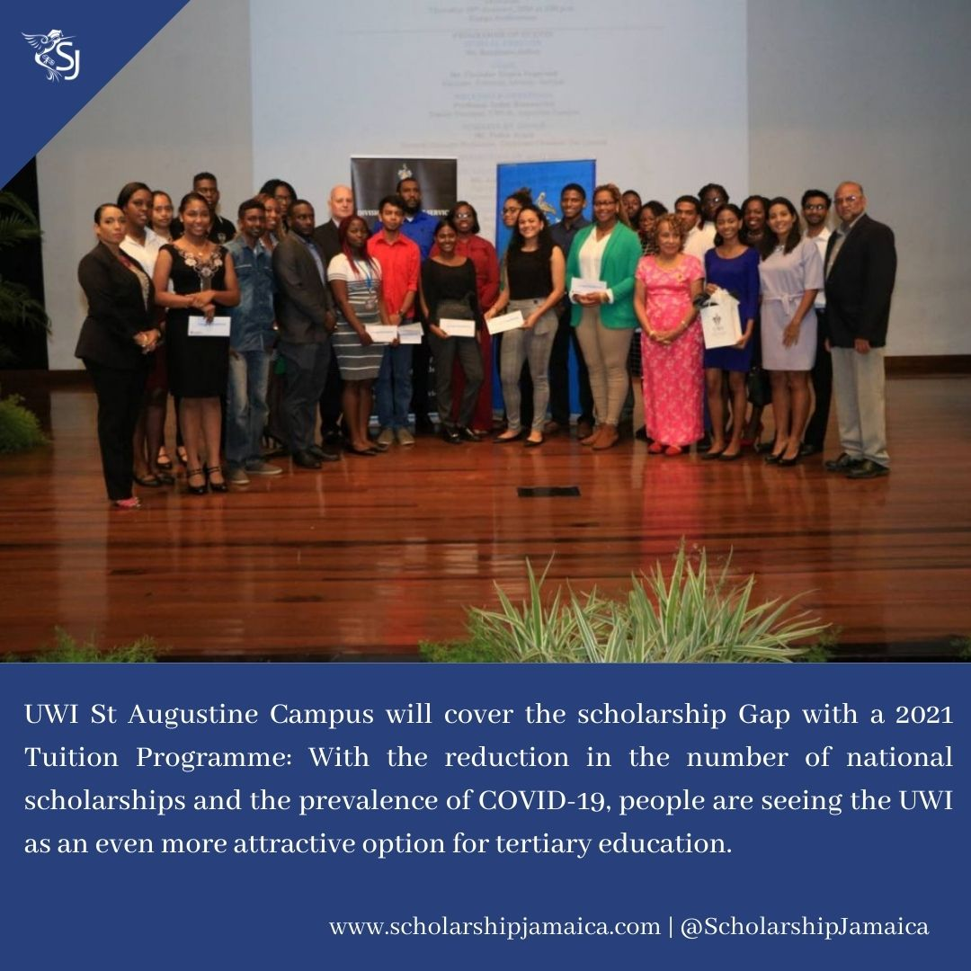UWI St Augustine Campus will cover the scholarship Gap with a 2021 Tuition Programme for Trinidadian students due to the impact of COVID-19.