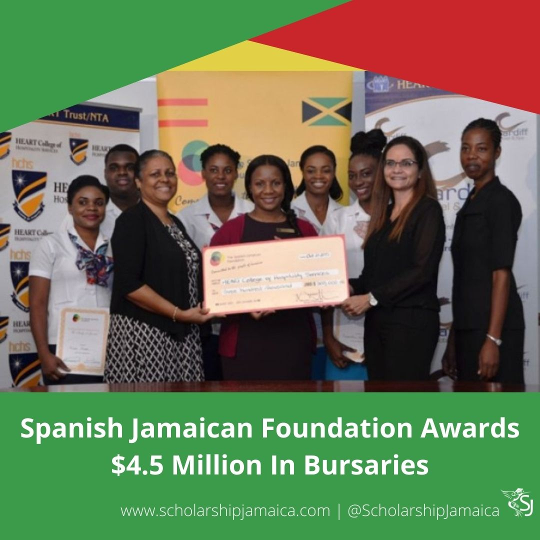 51 students facing financial difficulties, have been awarded bursaries of $4.5 million, courtesy of the Spanish-Jamaican Foundation (SJF)