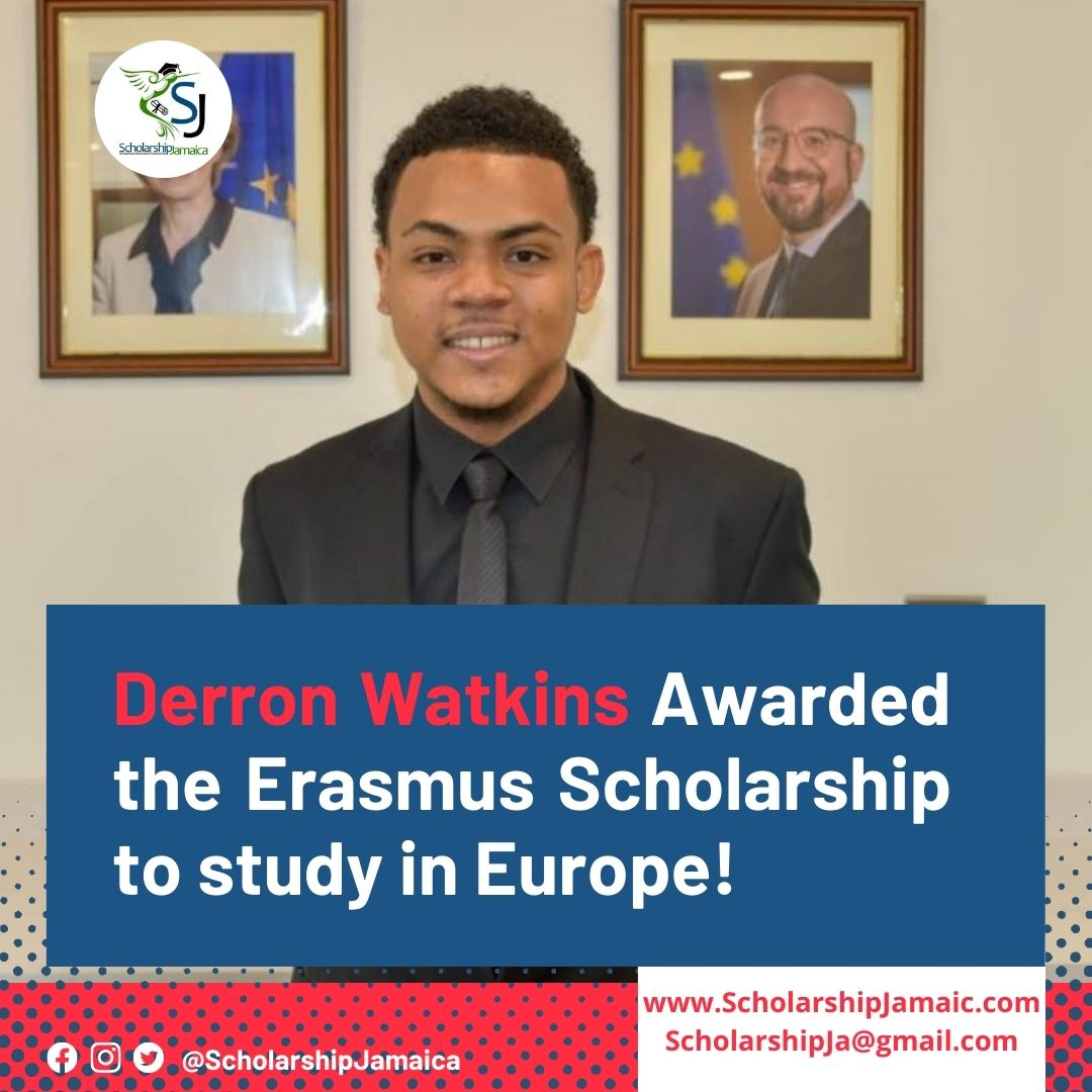 Derron Watkins will read for a master's degree in work, organizational and personnel psychology at the University of Valencia, Spain, and at the University of Coimbra in Portugal with a full Erasmus Scholarship award.