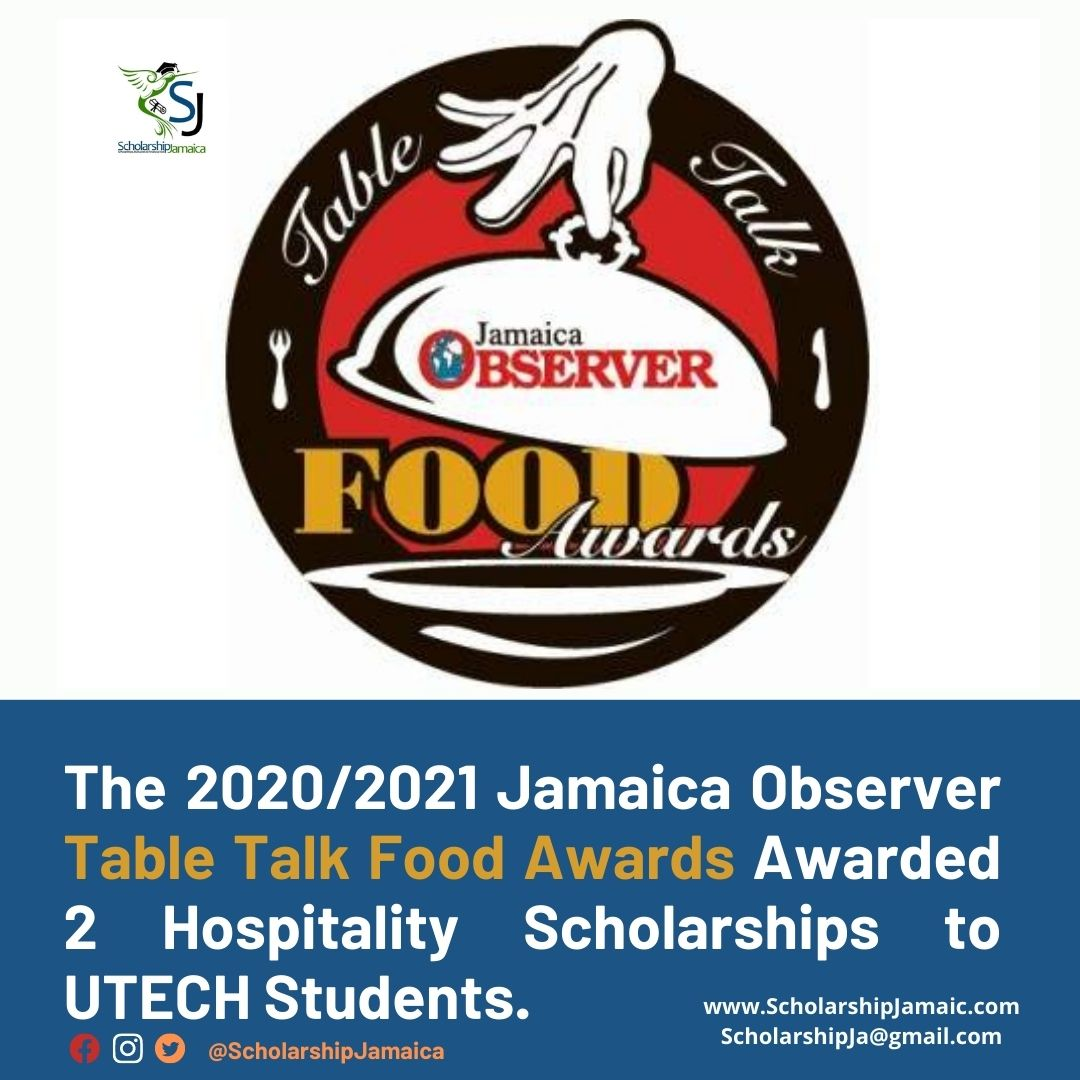 Food Awards chair Novia McDonald-Whyte awarded 2 scholarships to Cassania McIntyre & Amariah José Taylor who are hospitality students at UTECH