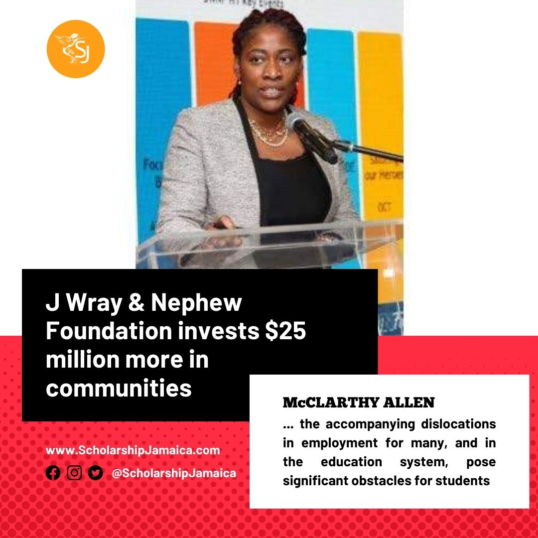 J Wray & Nephew Foundation (JWNF), the outreach arm of J Wray & Nephew Limited (JWN), has this year provided more than 400 community scholarships and financial grants to students in the communities across Jamaica.