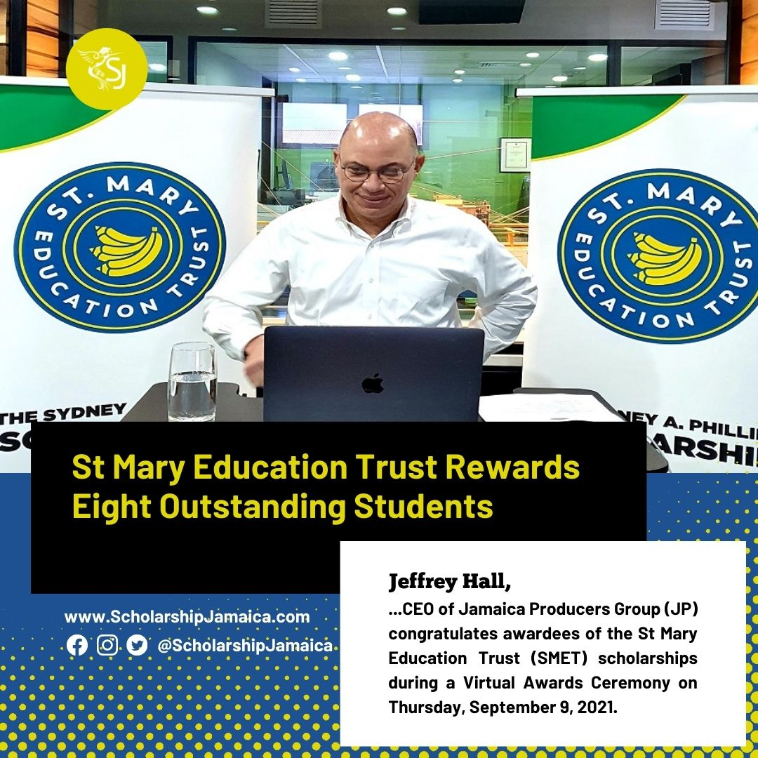 St Mary Education Trust (SMET), recently awarded eight scholarships under the St Mary Education Trust (SMET) Scholarship Programme.